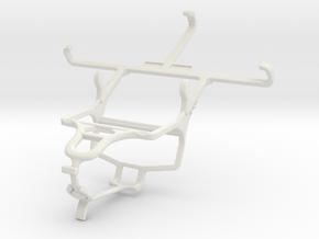 Controller mount for PS4 & Karbonn Sparkle V in White Natural Versatile Plastic