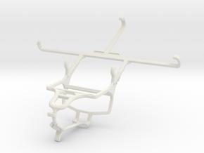 Controller mount for PS4 & Lenovo Golden Warrior N in White Natural Versatile Plastic