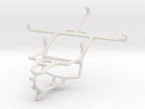 Controller mount for PS4 & Lenovo Vibe Z2 in White Natural Versatile Plastic