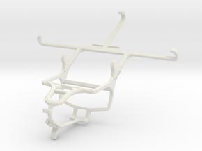 Controller mount for PS4 & Lenovo Vibe Z2 Pro in White Natural Versatile Plastic