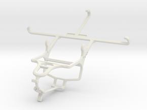 Controller mount for PS4 & Meizu PRO 5 in White Natural Versatile Plastic