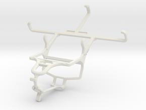 Controller mount for PS4 & Motorola DROID Turbo in White Natural Versatile Plastic
