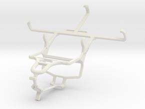 Controller mount for PS4 & Motorola Moto G Dual SI in White Natural Versatile Plastic