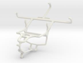 Controller mount for PS4 & Motorola Moto X (2014) in White Natural Versatile Plastic