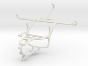 Controller mount for PS4 & Motorola Moto X Force in White Natural Versatile Plastic
