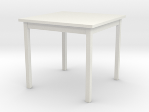 1/6 scale Table in White Natural Versatile Plastic