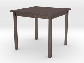 1/6 scale Table in Polished Bronzed Silver Steel