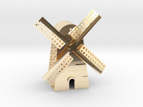 Windmill in 14k Gold Plated Brass