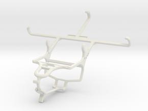 Controller mount for PS4 & Plum Coach Plus II in White Natural Versatile Plastic