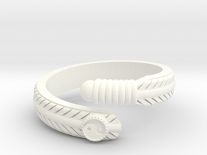 Feather ring in White Processed Versatile Plastic