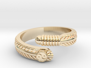 Feather ring in 14k Gold Plated Brass