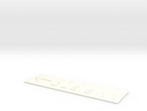 GLEIS 11 mit Pfeil nach links in White Processed Versatile Plastic