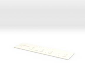 GLEIS 12 mit Pfeil nach links in White Processed Versatile Plastic