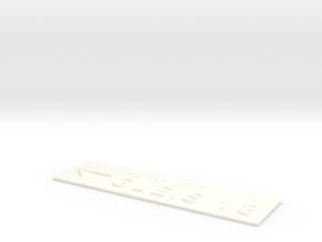 GLEIS 13 mit Pfeil nach links in White Processed Versatile Plastic