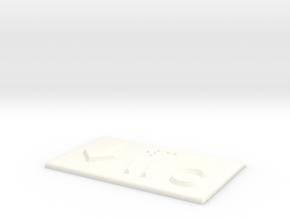 WC mit Pfeil nach unten in White Processed Versatile Plastic