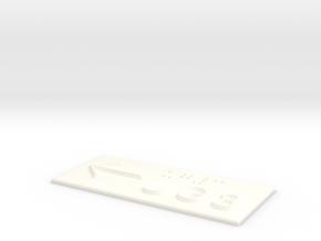 UG 3 mit Pfeil nach links in White Processed Versatile Plastic