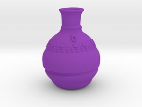 Smallish Vase v.2 in Purple Processed Versatile Plastic