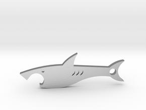Shark bottle opener in Natural Silver