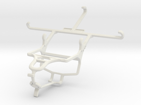Controller mount for PS4 & Samsung Galaxy S6 in White Natural Versatile Plastic
