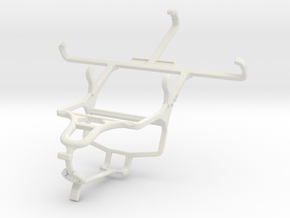 Controller mount for PS4 & Samsung Galaxy Xcover 3 in White Natural Versatile Plastic