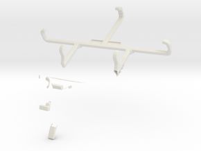 Controller mount for PS4 & Sharp Aquos Crystal in White Natural Versatile Plastic