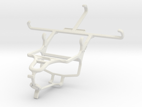 Controller mount for PS4 & Sony Xperia M2 dual in White Natural Versatile Plastic
