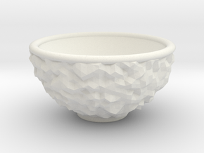 DRAW bowl - ceramic inverted geode in White Natural Versatile Plastic