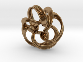 Scherk Minimal Surface Toroid in Natural Brass