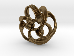 Scherk Minimal Surface Toroid in Natural Bronze