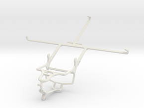 Controller mount for PS4 & Sony Xperia Z3 Tablet C in White Natural Versatile Plastic