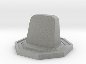 Tombstone Token in Metallic Plastic