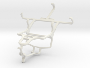 Controller mount for PS4 & Yezz Andy 3.5E2I in White Natural Versatile Plastic