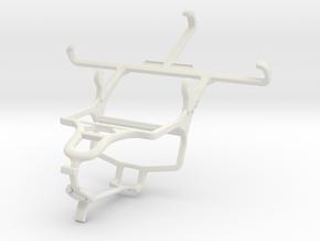 Controller mount for PS4 & ZTE Blade Q Mini in White Natural Versatile Plastic