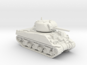 1/100 (15mm) M4 Sherman (F.O.W) Tank Two in White Natural Versatile Plastic