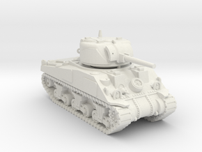 1/100 (15mm) M4 Sherman (F.O.W) Tank Four in White Natural Versatile Plastic