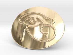 Eye Of Horus Belt Buckle in 14k Gold Plated Brass