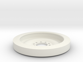 1/16 M113 Wheel in White Natural Versatile Plastic