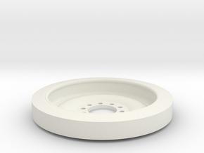1/16 M113 Wheel in White Natural Versatile Plastic