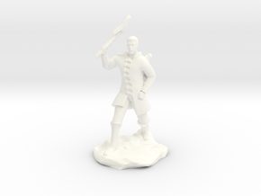 Human Ranger With Axe in White Processed Versatile Plastic