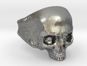 Silver Skull in Natural Silver