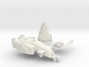 Drill Tank Turret with BFD2005 in White Natural Versatile Plastic