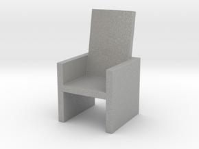 Card Holding Chair (7.184cm x 7.26cm x 12.786cm) in Aluminum