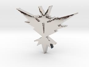 Team Instinct - Pokemon Go in Rhodium Plated Brass