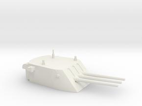 1/144 Scale USN WW2 6 Inch 45 Cal Triple Gun Turre in White Natural Versatile Plastic