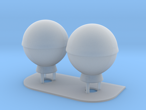 1:96 scale SatCom Dome Set 3 in Smooth Fine Detail Plastic