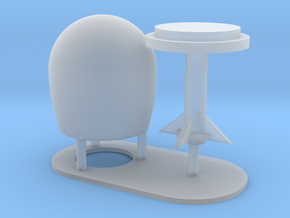 1:96 scale SatCom Dome Set 5 in Smooth Fine Detail Plastic