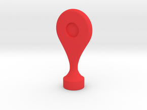 Google Maps Marker - Magnet (no hole) in Red Processed Versatile Plastic