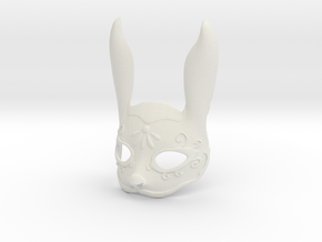 Splicer Mask Rabbit (Mens Size) in White Natural Versatile Plastic