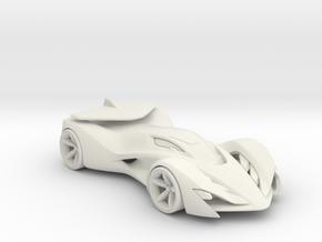Invo R Racecar - Concept Design Quest in White Natural Versatile Plastic
