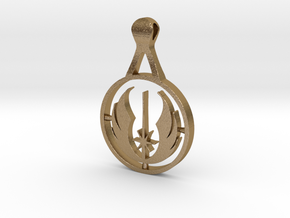 Jedi pendant in Polished Gold Steel